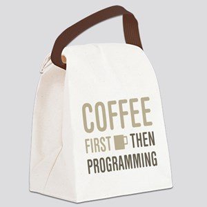 Coffee Then Programming Canvas Lunch Bag